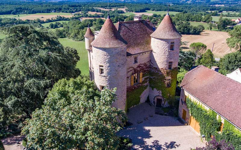 Fairytale 16th century chateau in 8 acres with views, nr Caylus, Tarn et Garonne for sale for 1,480,000€ in Tarn-et-Garonne, Midi-Pyrenees